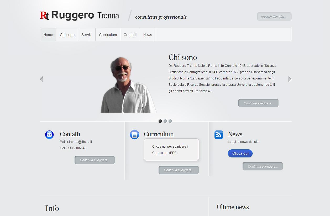 Sito per professionisti: Ruggero Trenna