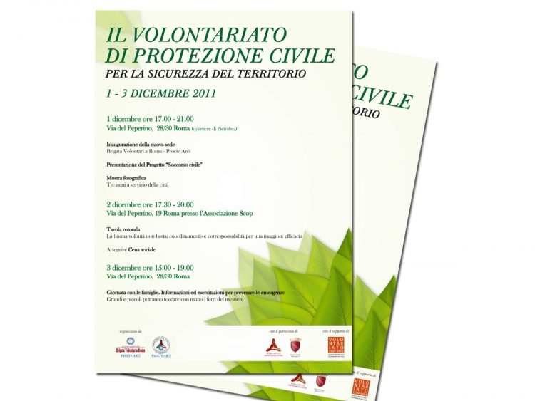 Roma, Pietralata: il volontariato di protezione civile per la sicurezza del territorio