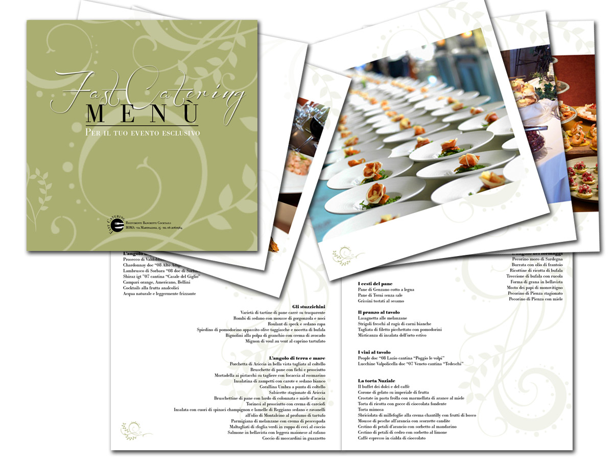 fast catering brochure