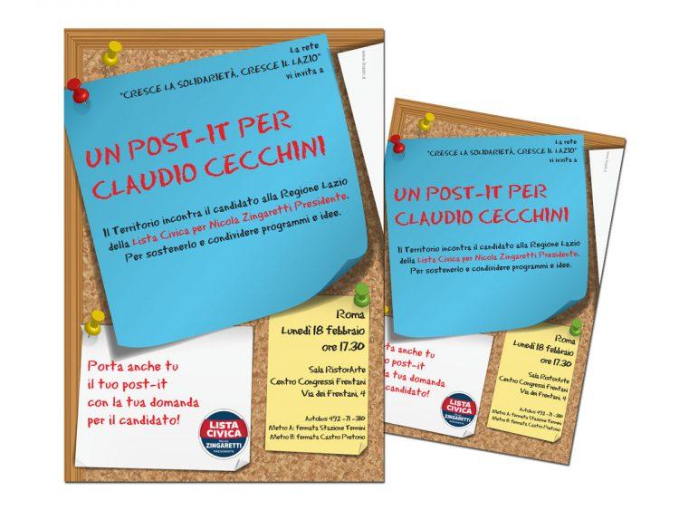 Un post-it per Claudio Cecchini