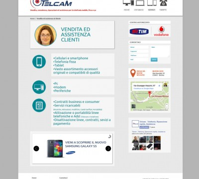 Telcamtelefonia – Sito web Telefonia