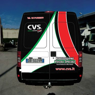 Deisgn Furgone CSV per Car Wrapping