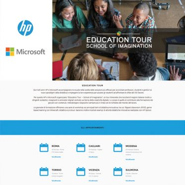 Education Tour Microsoft e Hp