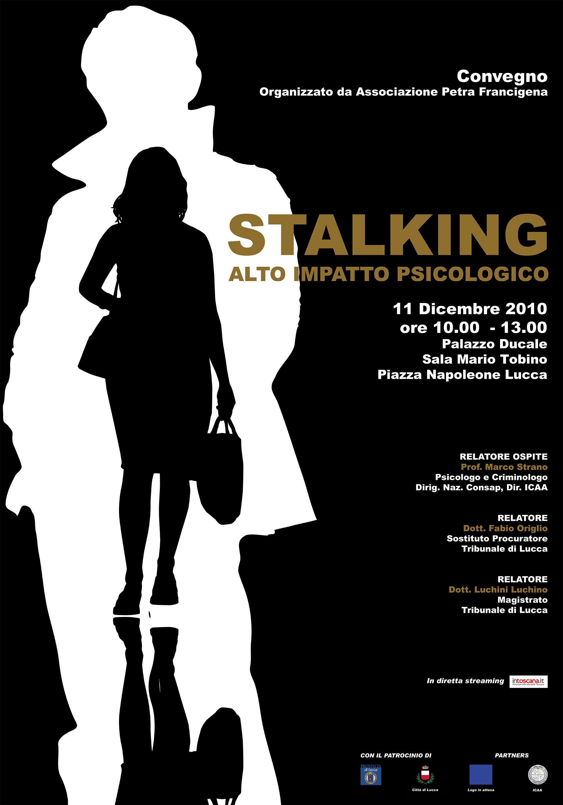 Grafica Editoriale Roma locandina stalking