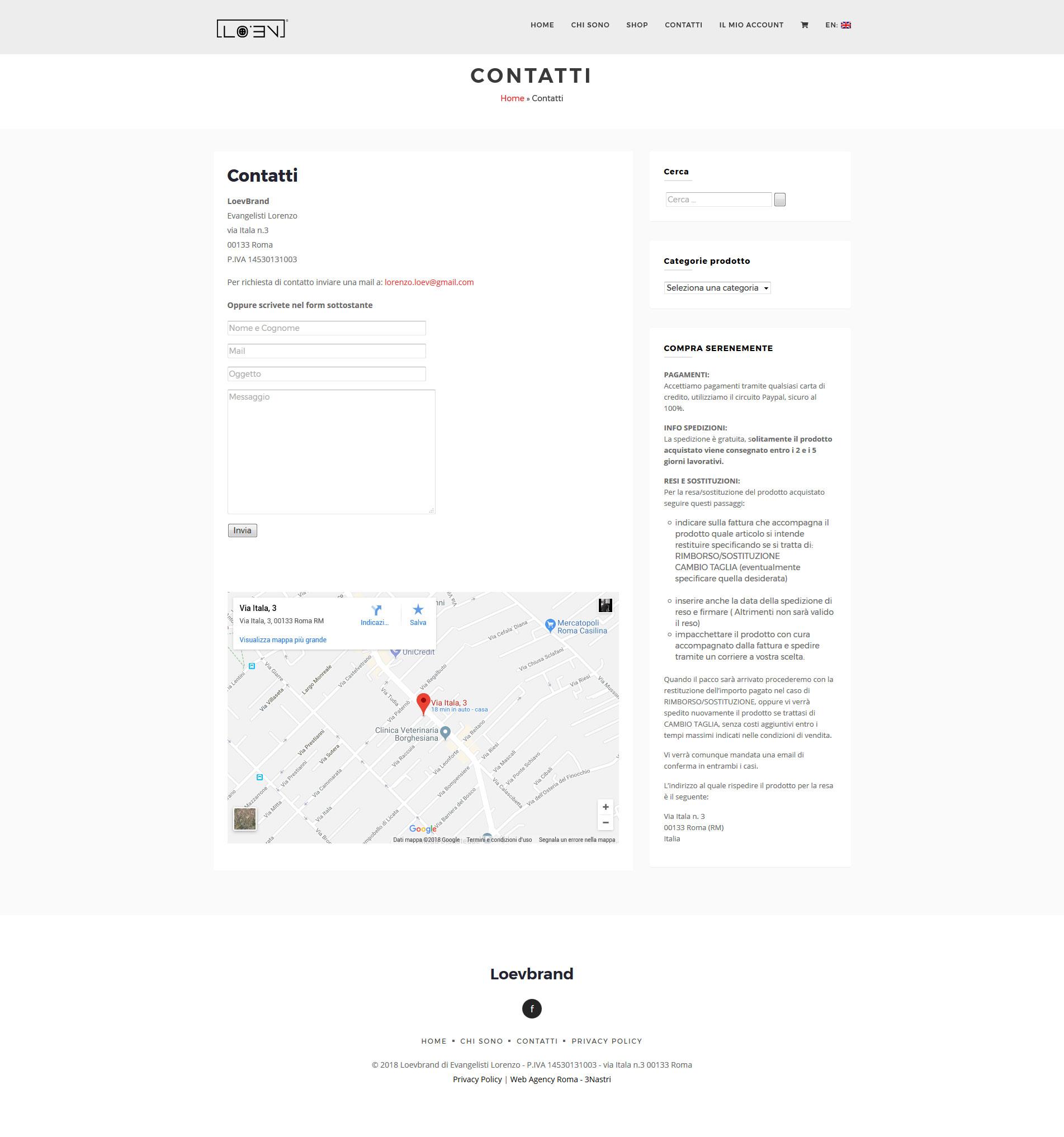 Sito-web-e-commerce-abbigliamento Esempio E-commerce Fashion abbigliamento